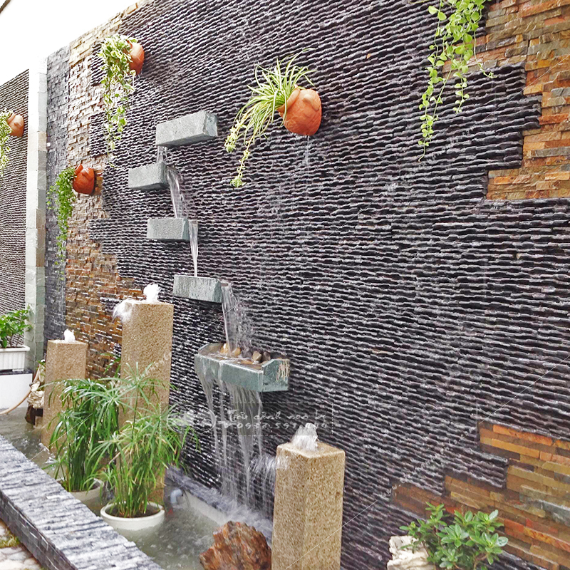 tuong-da-thac-nuoc-chay-san-vuon Tường Đá Thác Nước Chảy Sân Vườn