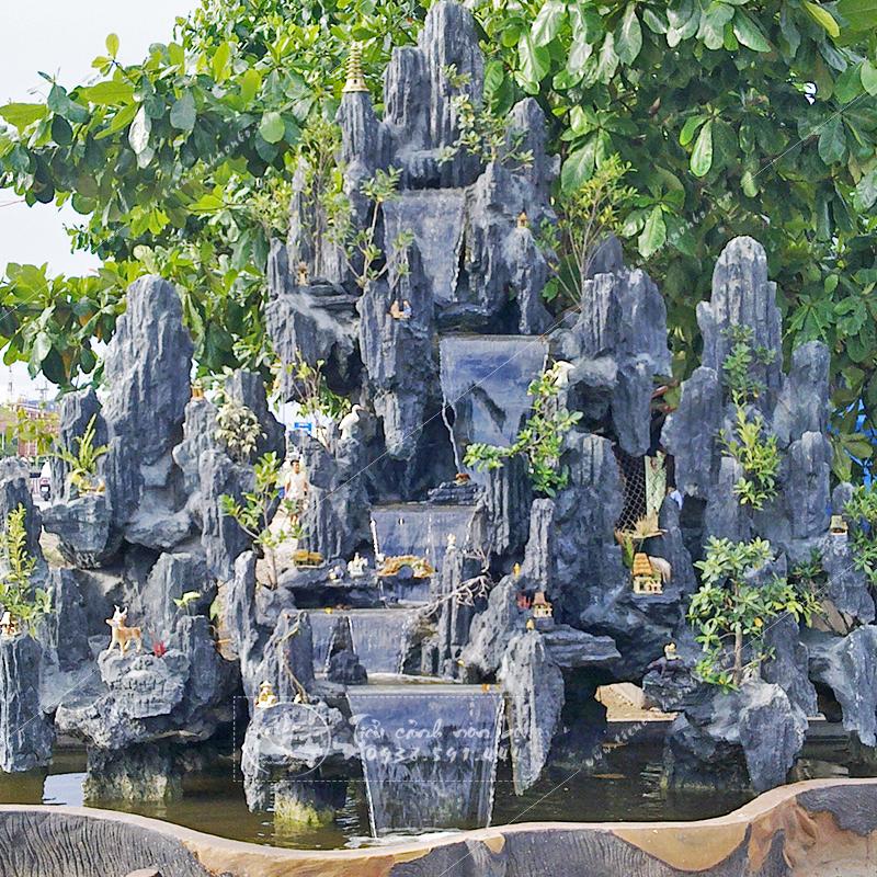 cach-lam-hon-non-bo-1 Tiểu Cảnh Hòn Non Bộ Mini Sân Vườn
